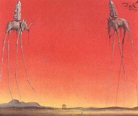 Salvador-Dali-The-Elephants-2-1948