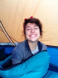 Waking up in the morning with smokey swollen eyes after a great night around the campfire.